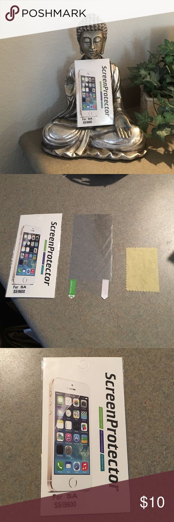 NWT Samsung S5 Screen Protector Samsung S5 do it yourself screen protector. NWT ! Free Shipping on Depop! Screen Protector Accessories Phone Cases