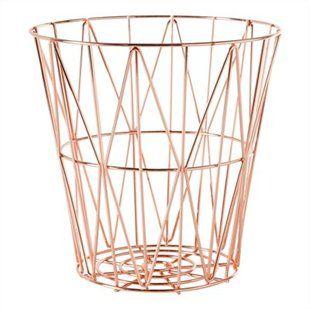 Small Diamond Weave Basket - Rose Gold