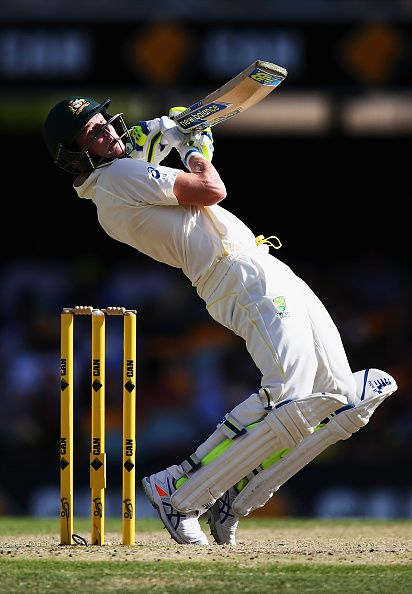BRISBANE, AUSTRALIA - DECEMBER 20: Steve Smith of Australia bats during day four of the 2nd Test match between Australia and India at The Gabba on December 20, 2014 in Brisbane, Australia. (Photo by Ryan Pierse - CA/Cricket Australia/Getty Images)