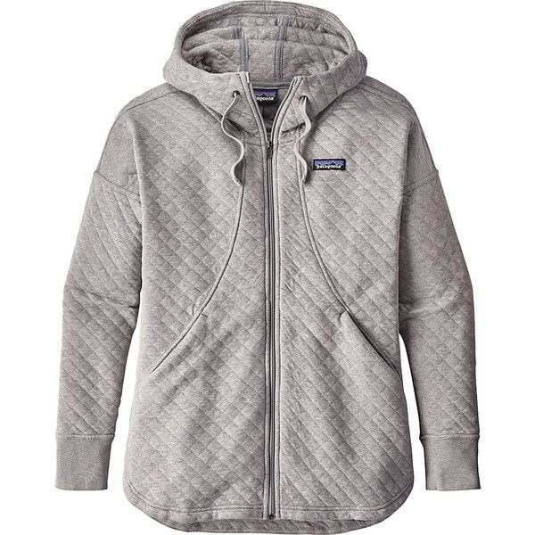 Patagonia Womens Cotton Quilt Hoody - L - Drifter Grey - Women's... ($179) ❤ liked on Polyvore featuring tops, hoodies, grey, cotton hoodies, patagonia hoody, patagonia hoodie, lined hooded sweatshirt and lined hoodies
