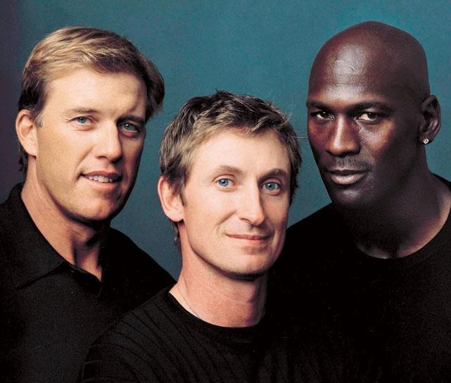 Sports Royalty. John Elway, Wayne Gretzky and Michael Jordan  1999