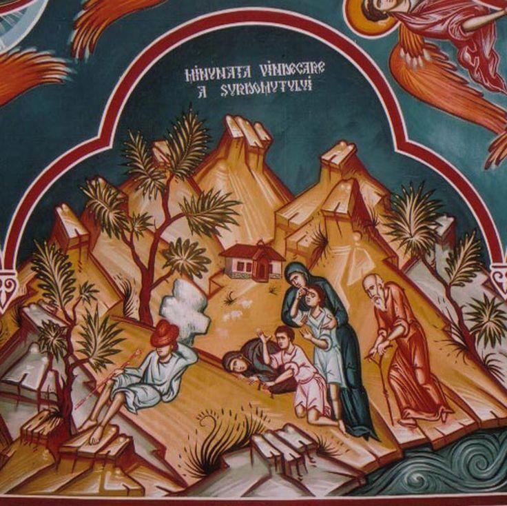 Le immagini della sorgente e affreschi della cappella