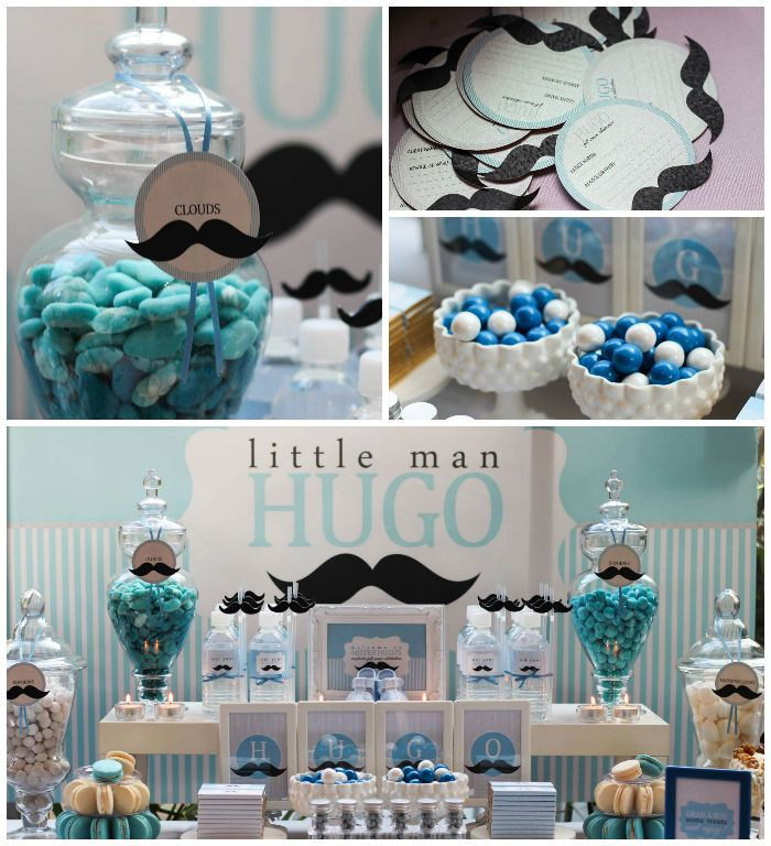 Baby Shower Mustache Theme: Little Man + Mustache Themed Birthday Party {Planning
