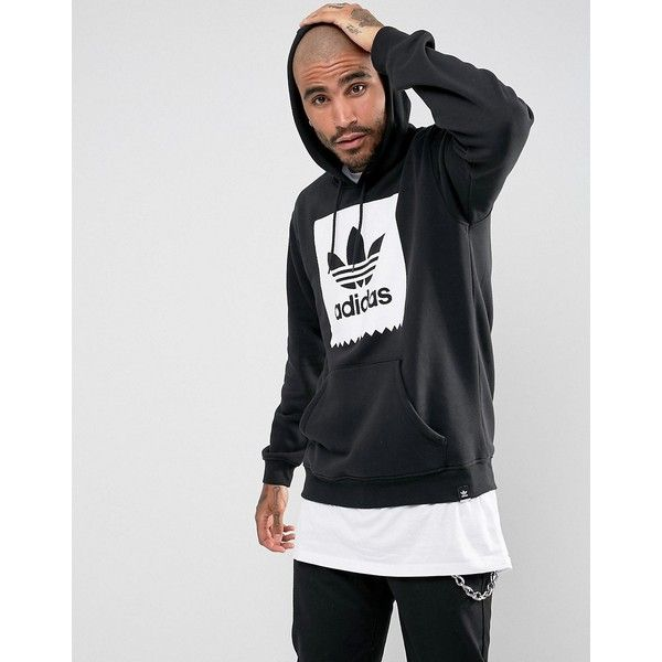 adidas Skateboarding Solid BB Hoodie In Black BR4926 (115 AUD) ❤ liked on Polyvore featuring men's fashion, men's clothing, men's hoodies, black, mens sweatshirt hoodies, adidas mens hoodies, mens cotton hoodies, lightweight mens hoodies and mens tall hoodies