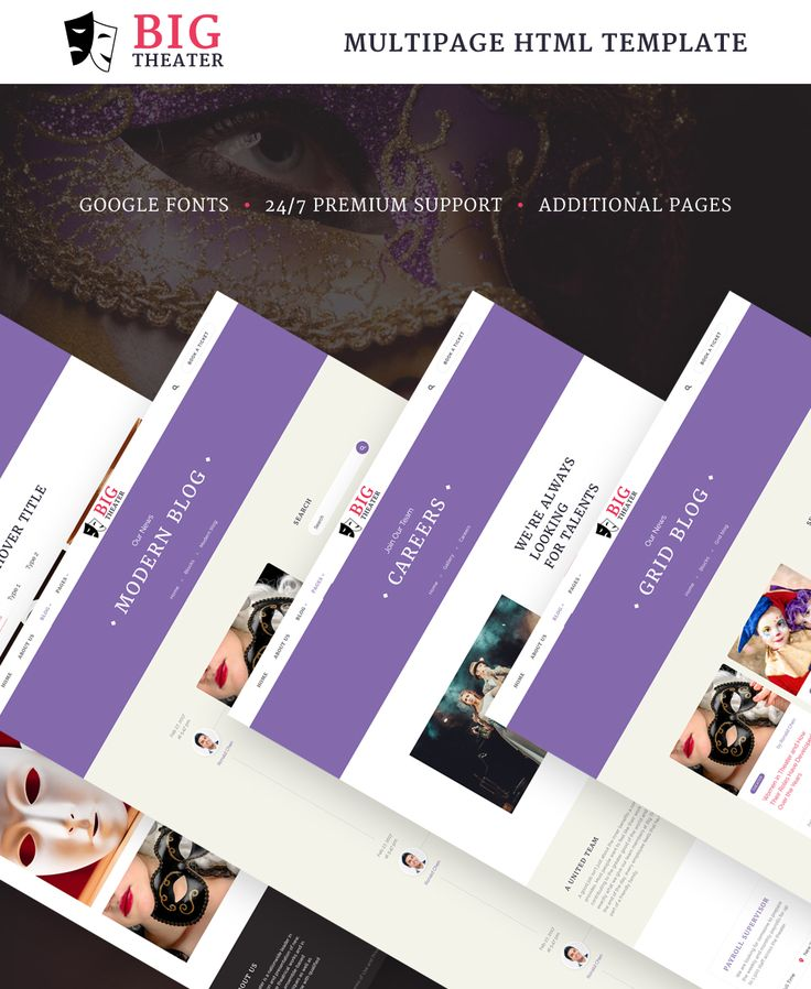 Website Template , Big Theater - Theater