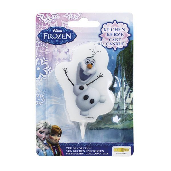 Świeczka na tort dla prawdziwych Frozen - Kraina Lodu Świeczka jest doskonałą dekoracją i będzie prawdziwą niespodzianką dla każdego wielbiciela Olafa. Figurka jest wysokiej jakości, produkt oryginalny na licencji.