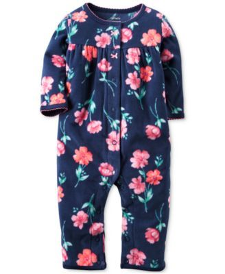 Carter's Baby Girls' Floral-Print Jumpsuit