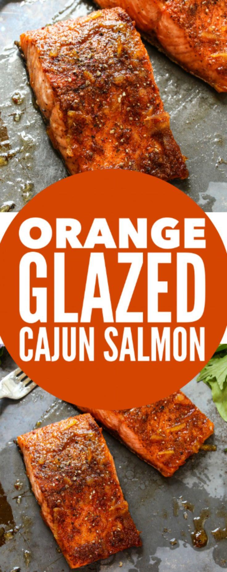 Orange Glazed Cajun Salmon - Layers of Happiness