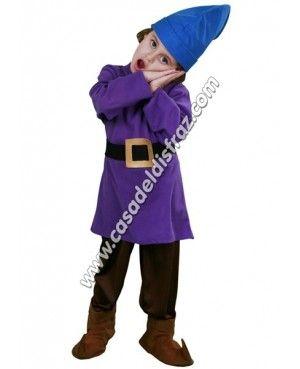 Disfraz de Enanito Nº 2 de Blancanieves para niños. #Disfraces #Carnaval www.casadeldisfraz.com