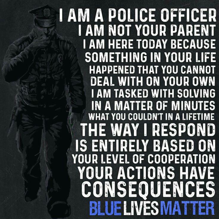 I am a Police Officer