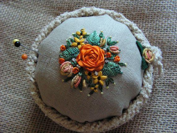 pincushion by Mydaisy2000 on Etsy, $25.00