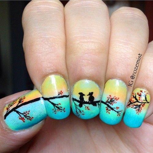 339 best nail art images on pinterest nail scissors nail art love birds spring nail artspring prinsesfo Choice Image