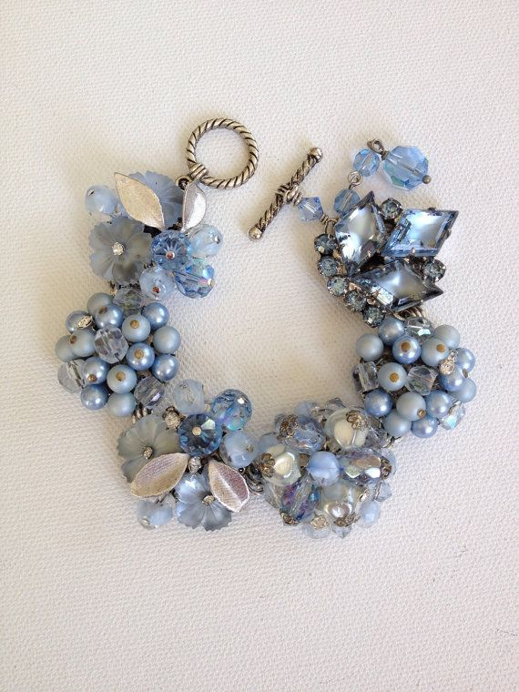 Blue bracelet something blue bridal by ChicMaddiesBoutique on Etsy, $39.00