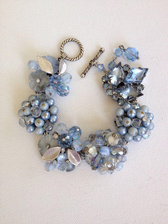 Blue bracelet something blue bridal by ChicMaddiesBoutique on Etsy, $39.00