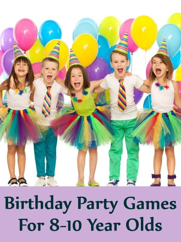 Birthday Party Games For 8 10 Year Olds Outdoorideasgames