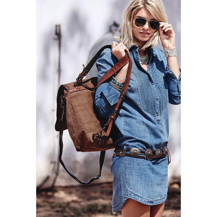 Jeanskleid, jeansblau, lang, used Look   Freizeitkleider   Kleider   Damen