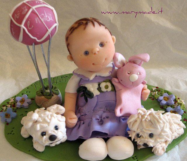 *POLYMER CLAY ~ Cake topper - Veronica's Baptism by marytempesta, via Flickr