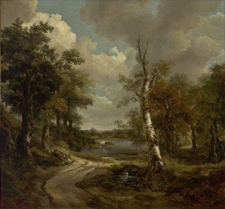 Thomas Gainsborough, Drinkstone Park (O Bosque de Cornard?), c. 1747. Museu de Arte de São Paulo Assis Chateaubriand - MASP