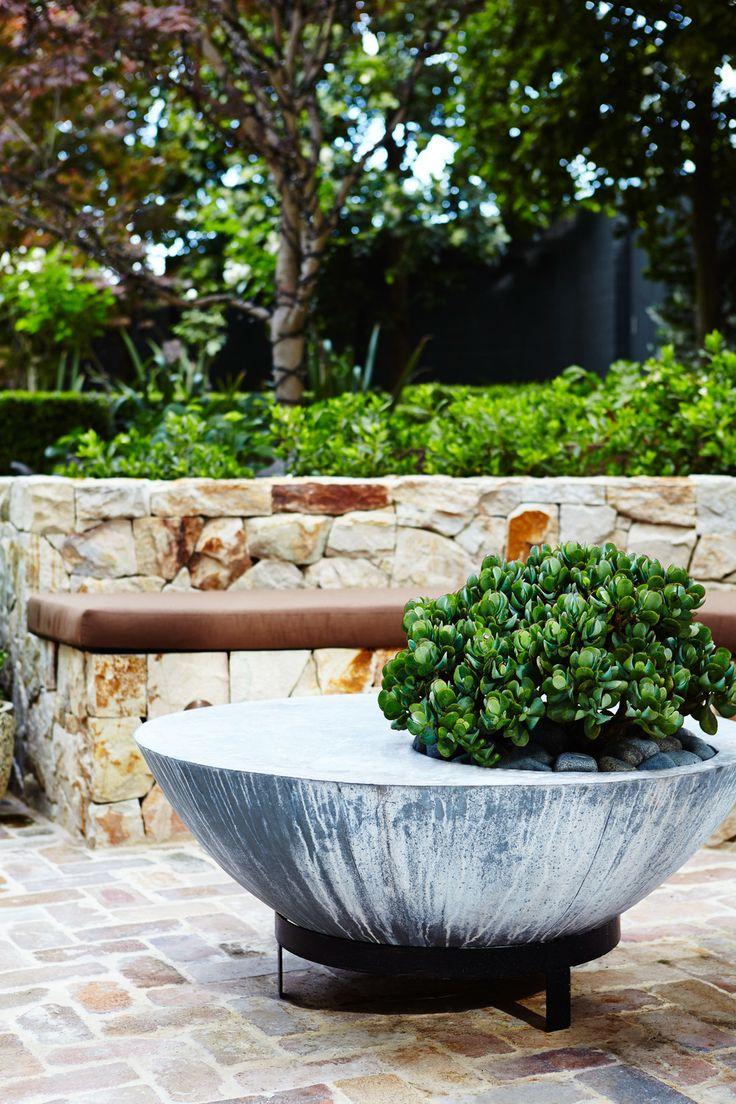 Bluebird set into Zinc table - Outdoor Establishments
