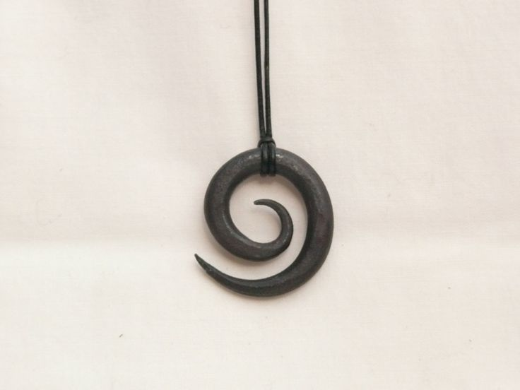 Hand Forged Necklace, Blacksmith Pendant by HarmlessBananasTribe on Etsy