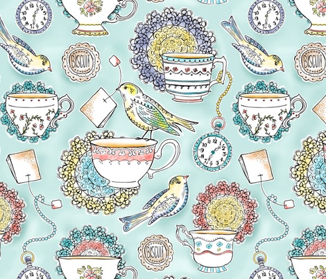 Afternoon tea fabric by Heatherdutton
