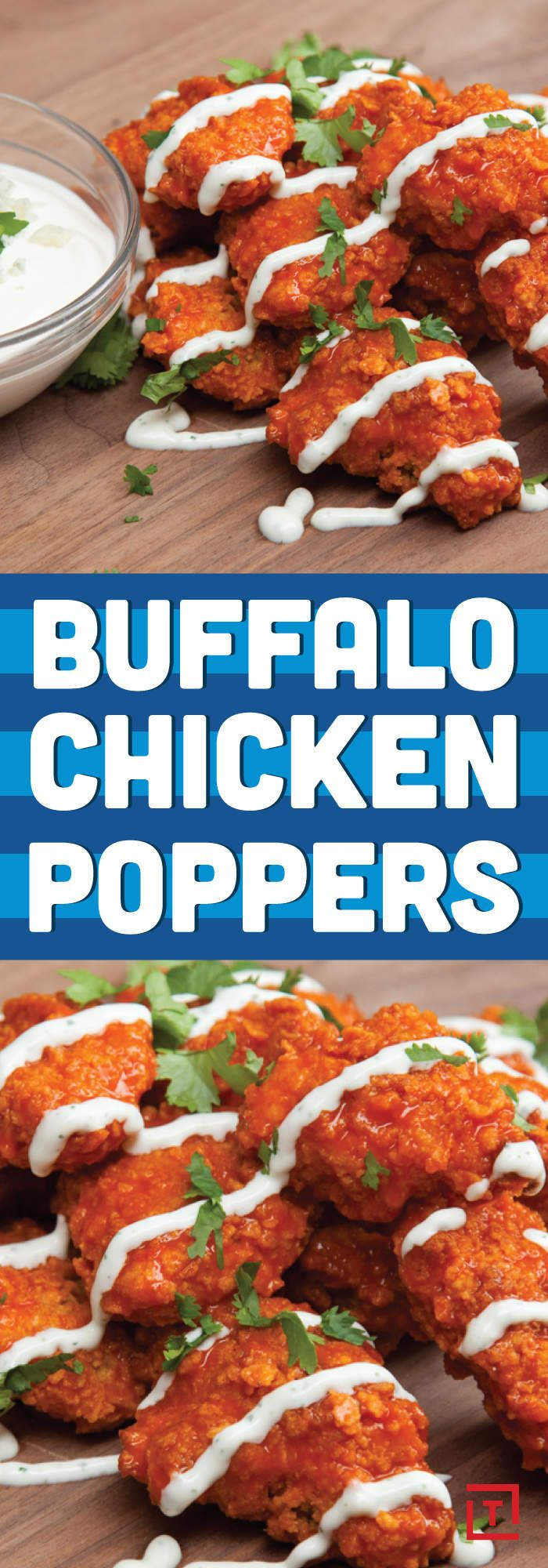Here's How To Make Awesome Buffalo Chicken Poppers