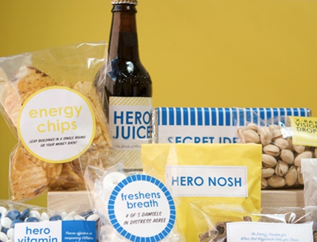 Superhero snacks! Perfect for father's day or a big game.