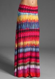TORN BY RONNY KOBO Riley Maxi Skirt in Multi Drip