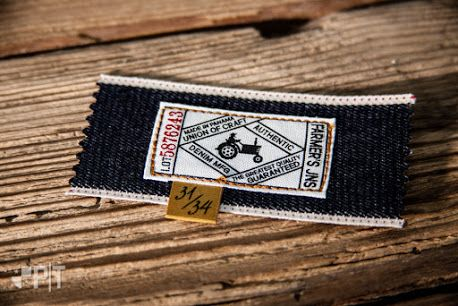 Printed cotton label made in Italy by Panama Trimmings #denim #details #vintage #labeling