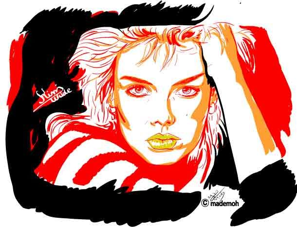 kim wilde by mademoh kim wilde paintings drawings. Black Bedroom Furniture Sets. Home Design Ideas