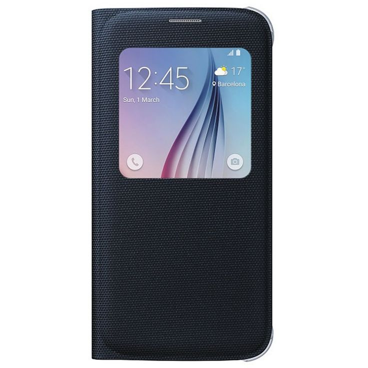 Samsung Galaxy S6 S-View Fabric Flip Veske EF-CG920BBEGWW - Svart
