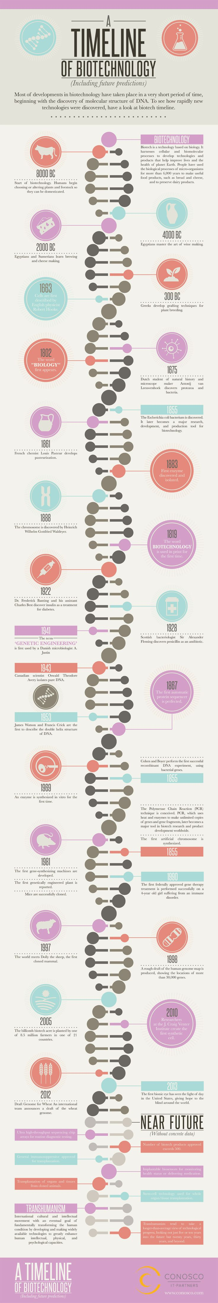 A Timeline of Biotech (Including Future Predictions) | Visual.ly