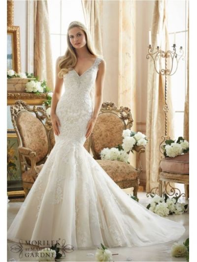 www.bestdresssellingcom  v neck tull over satin mori lee 2878 wedding dress|mori lee 2878|Mori lee
