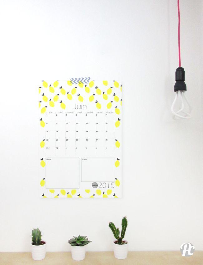 Calendrier de Juin 2015 à imprimer par potentiel creatif - Potentiel Créatif