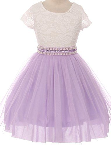 3601cc6e7c1 BNY Corner Flower Girl Dress Beautiful Overlay Shiny Mesh Skirt Special  Occasion Easter Pageant