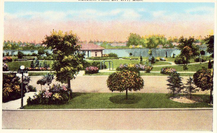 Wenonah Park - Bay City,Michigan Linen Postcard