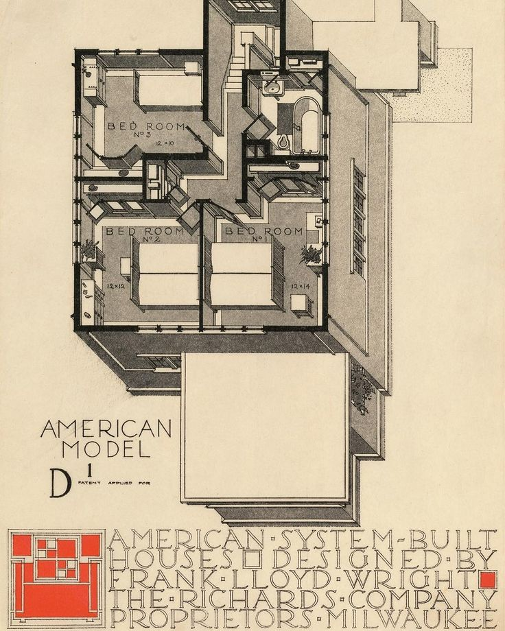"""Celebrate #WorldArchitectureDay by getting lost in our digital catalog of our Frank Lloyd Wright archive. Over 113 works from #MoMACollection are online, including sketches, models, and past exhibitions. mo.ma/flwarchive #FLW150 … Frank Lloyd Wright. """"American System-Built (Ready-Cut) Houses. Project."""" 1915–17. Model options. Lithographs. Gifts of David Rockefeller, Jr. Fund, Ira Howard Levy Fund, and Jeffrey P. Klein Purchase Fund © 2017 Frank Lloyd Wright Foundation, Scottsdale, AZ.]"""