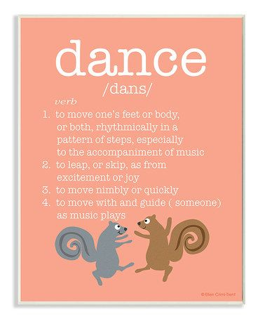 Another great find on #zulily! Definition of Dance Wall Sign #zulilyfinds