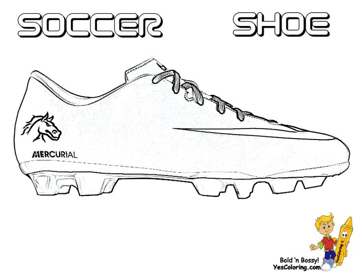 Cool Soccer Shoe Coloring Page You Can Print Out This Soccer Coloring Page Now