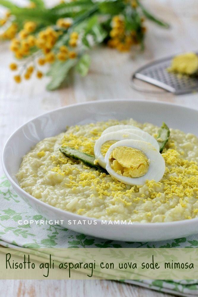 risotto agli asparagi con uova sode mimosa  ricetta primo festa della donna