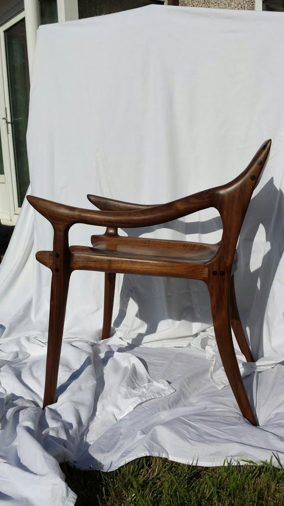Here is my Sam Maloof (loosely) inspired low back dining chair, I say