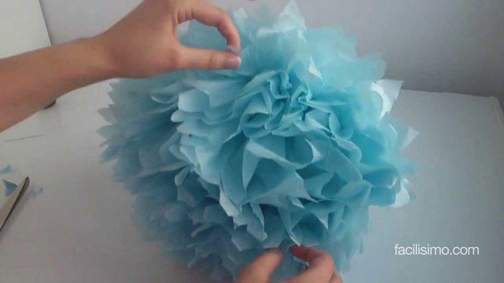 Cómo hacer un pompón de papel para cumpleaños | facilisimo.com