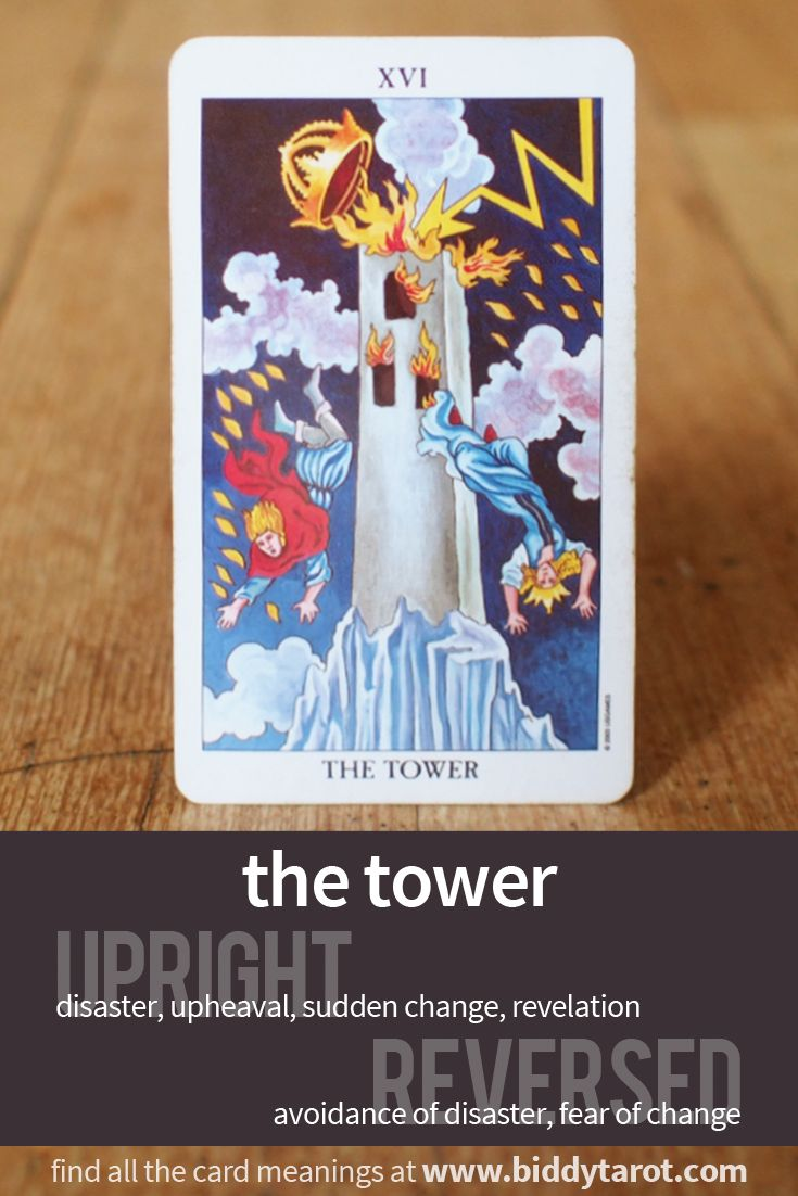 the tower card in a relationship reading