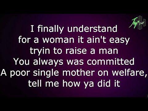 Tupac - Dear Mama (Lyrics) - YouTube