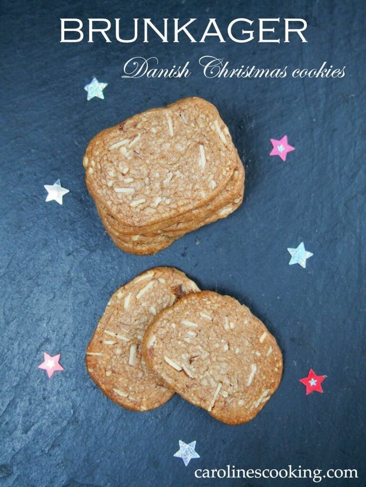 Brunkager are Danish Christmas cookies with a delicious spiced flavor and a wonderful crunch. Prefect to add to your cookie plate.