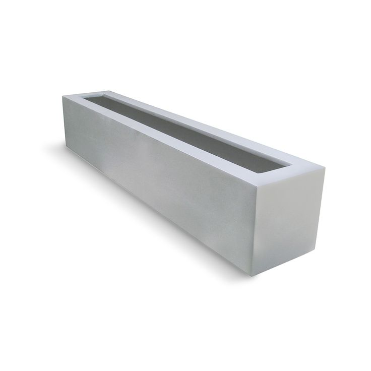 "Diy Concrete Planter Box: 42"" Long Salon Fiberglass Rectangular Planter Box"