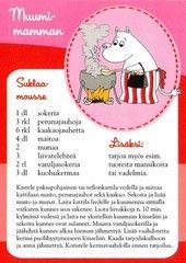 Muumi-mamman suklaamousse - kortti