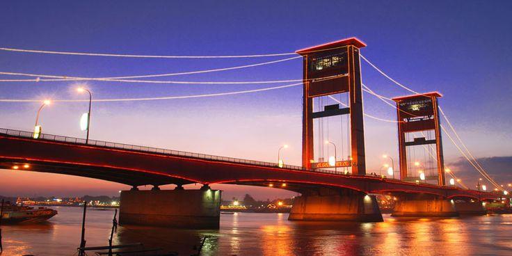 jembatan ampera palembang festival wisata gerhana matahari 2016