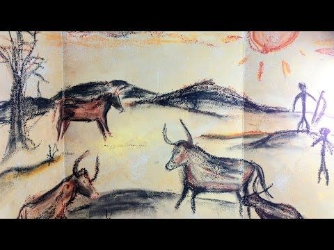 ▶ Prehistoric Cave Painting - Mixed Media Art Project for Kids - YouTube (6:51)