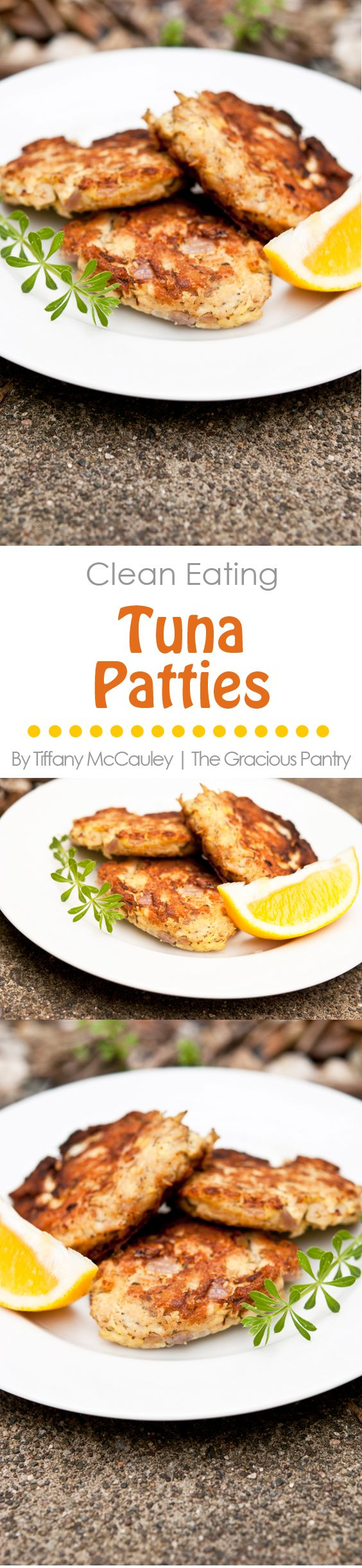 Clean Eating Tuna Patties. A simple, healthy, clean and delicious way to enjoy tuna, and everyone will love it! ~ https://www.thegraciouspantry.com